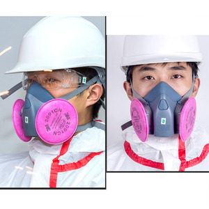 Image 5 - 3M 7502 Half Face Respirator Painting Spraying Gas Mask Chemcial Safety Work Gas Mask Proof Dust Facepiece Respirator Mask