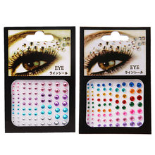 1 Sheet Glitter Tattoo Sticker Diamant Make-Up Eyeliner Oogschaduw Gezicht Strass Sticker Sieraden Eye Make Crystal Eye Stickers(China)