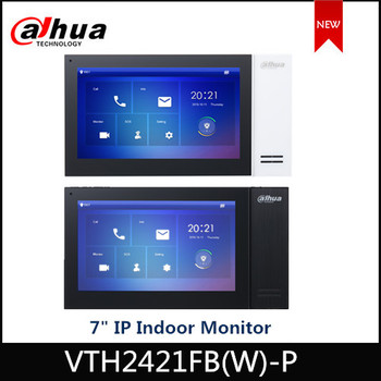 "Dahua Video Intercoms IP Digital 7"" TFT Touch Screen  VTH2421FB-P VTH2421FW-P Support 8GB SD Card And POE Doorbell Accessory"