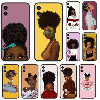 2bunz Melanin Aba African girl Phone case For Huawei Honor 10 10i 20 6A 7A 7C 8 8A 8X 9 9X Play View 20 Lite Pro black back image