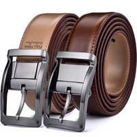 Men's Reversible Classic Dress Belt Italian Leather 85cm to 160cm Rotating Buckle by Beltox fine
