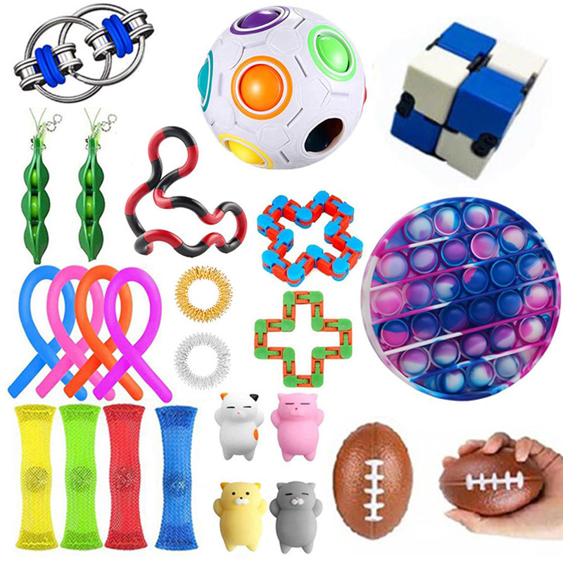 Fidget Toys Anti Stress Toy Set Stretchy Strings Mesh Marble Relief Gift For Adults Children Girl Sensory Antistress Relief Toys img1