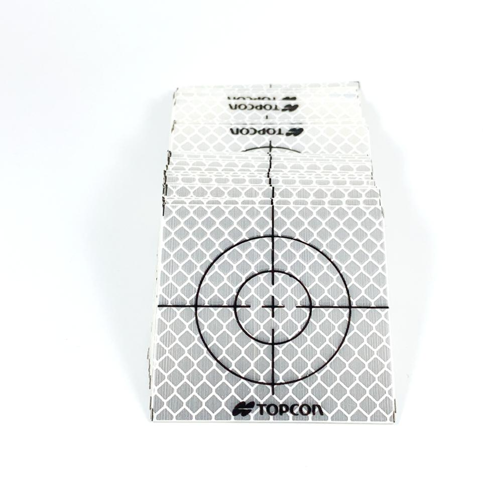 100pcs Silver Reflective Retro Target Sticker 20mm Surveying Total Station