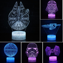 Star Wars Death Star Gift lamp 3D Night light Colorful touch LED lamp Small table lamp Bedside lamp Originality Decorative lamp