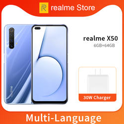 Verdadero yo X50 X 50X5G 8GB 128GB 6,57 teléfono móvil Snapdragon 765G Octa Core 64MP Quad cámara del teléfono móvil VOOC 30W cargador rápido