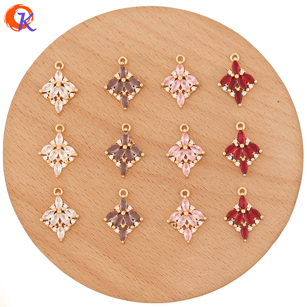 Cordial Design 40Pcs 13*18MM Jewelry Accessories/Rhinestone Pendant/Hand Made/Drop Shape/Earrings Findings/CZ Charms/DIY Making