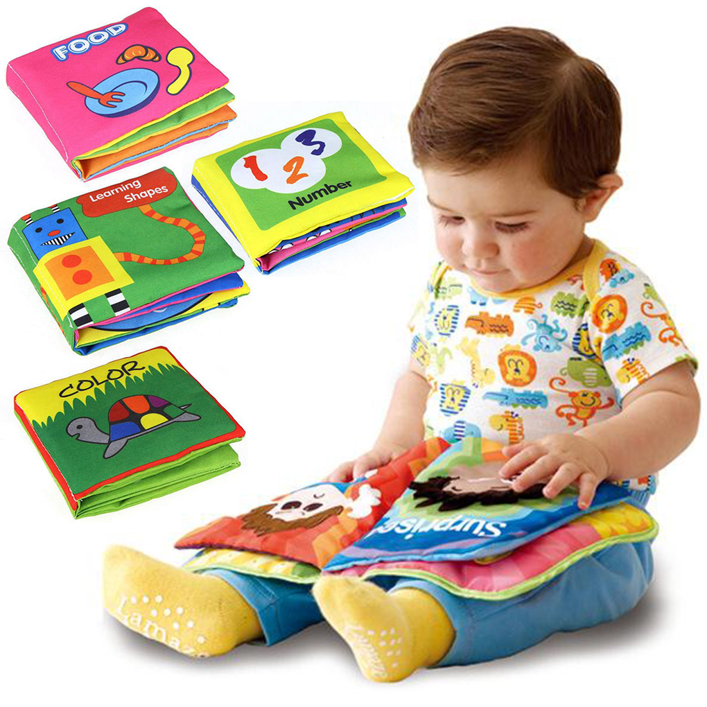 Hot Sale New Soft Cloth Books Rustle Sound Infant Early Learning Educational Toy