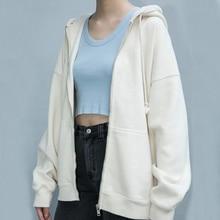 Women Oversized Cozy Zip Up Hoodie Oversized Hooded Sweatshirt