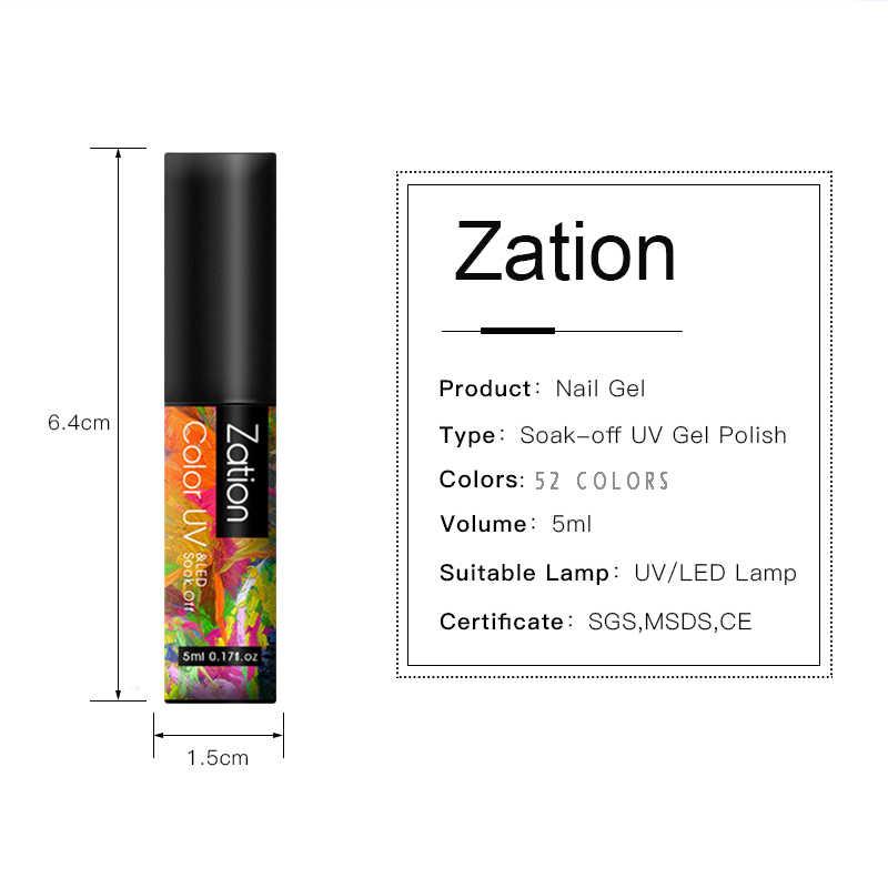 Zation UV jel oje kapalı ıslatın jel lehçe cila yarı kalıcı saf tırnak 52 renkli tırnaklar Art jel vernik pardösü vernikler