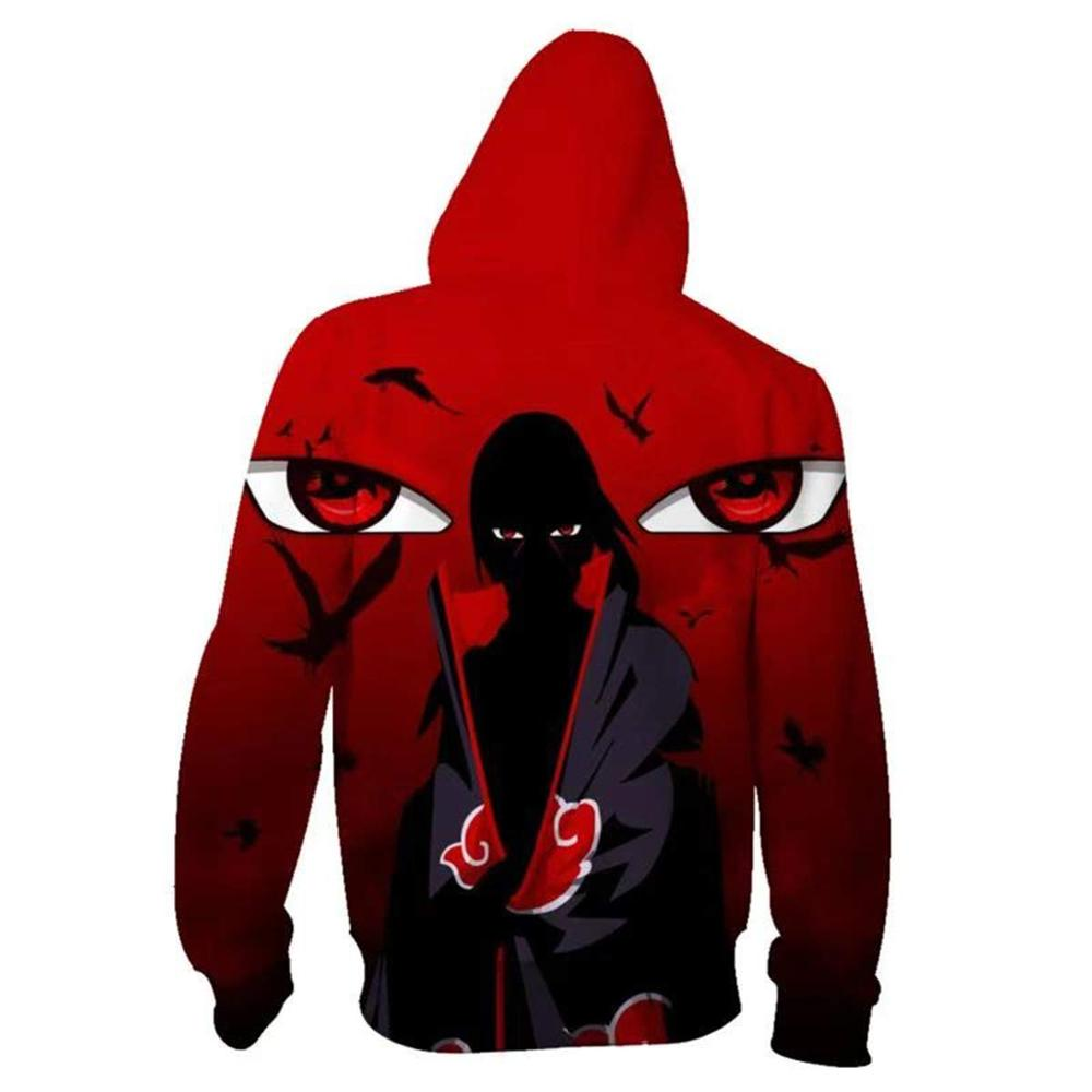 Boruto Naruto Hoodies Jacket Men Harajuku 3D Hoody Akatsuki Coat Uchiha Itach Cosplay Costume Kakashi Zipper Hooded Sweatshirts 3