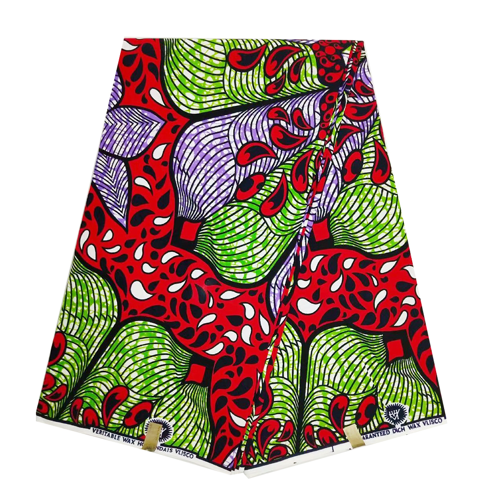 High Quality Guaranteed Real Dutch Wax Fabrics Netherlands Veritable African Ankara Sewing  Print Cotton Fabric 6 Yards Sale