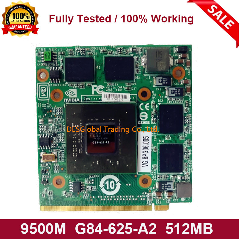 9500M G84-625-A2 512MB Graphics Video VGA Card For Acer Aspire 4520 5520 5720 5920G 7720 6930 8920 5720G Working Perfectly
