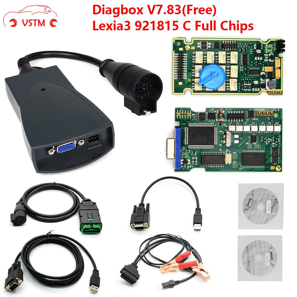 Lexia 3 PP2000 Full Chip Diagbox V7.83 With Firmware 921815C Lexia3 V48/V25 For Citroen For Pe-ugeot OBDII Diagnostic-tool