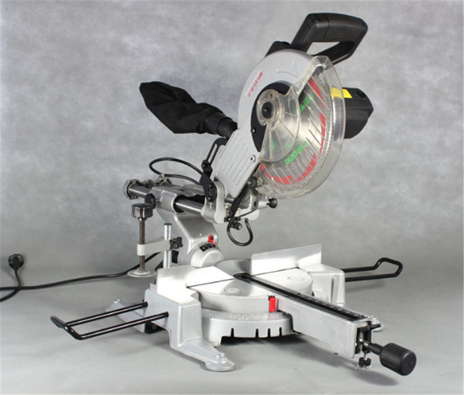 10 Inch Miter Saw Multi-function Lever Saw Table 45 Degree High Precision Aluminum Alloy Wood Cutting