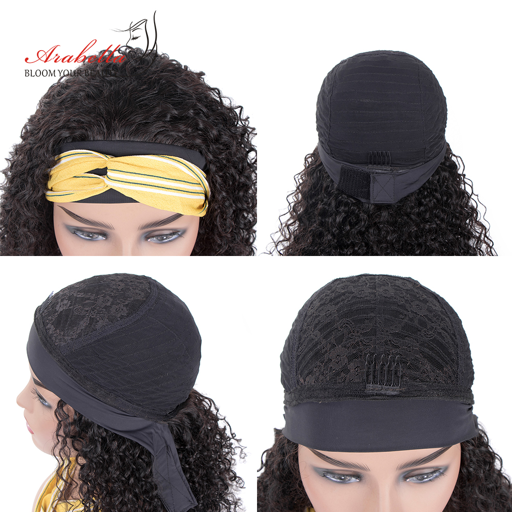 Jerry Curly  Wigs With Headband  Hair Full Machine Made Wig  Easy to Install ARABELLA Glueless Wig 6