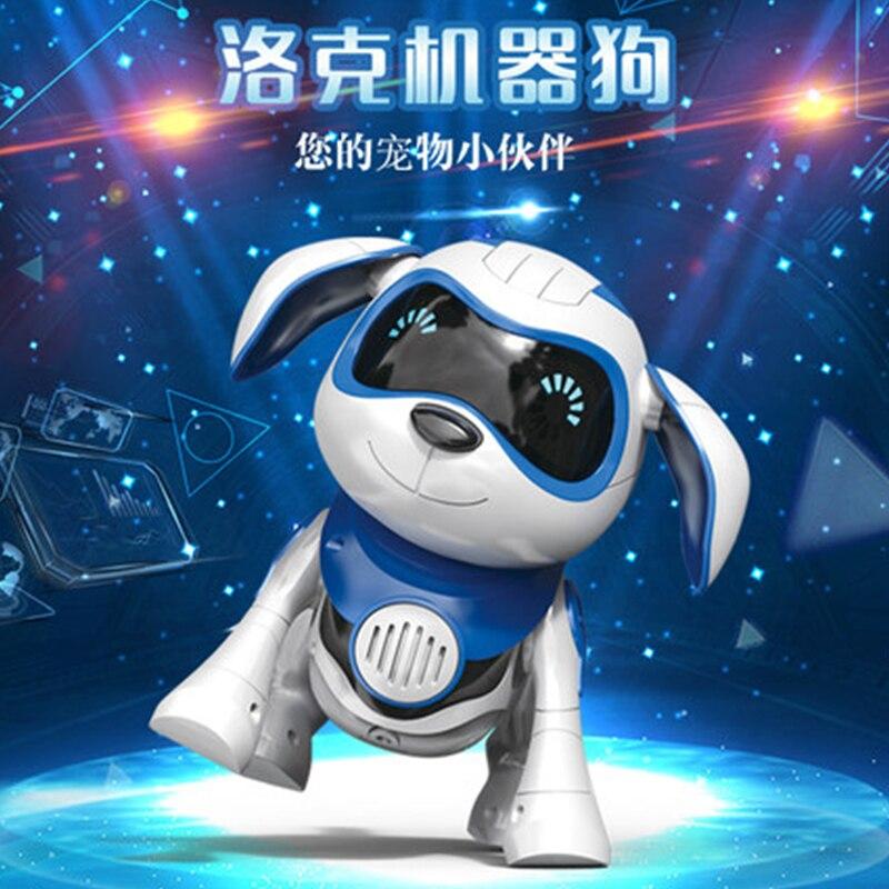 Smart Robot Electronic Pet Induction Toy Dog Control Dog  Gesture Following Interactive Program Dancing Walk Robotic Animal Toy