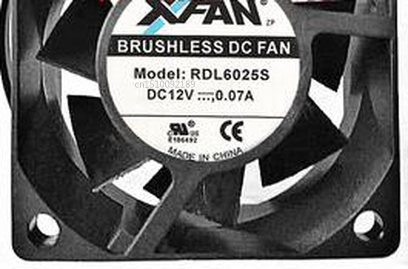 FOR Original XFAN RDL6015S 12V 0.06A 6CM 6015 2 -line Silent Cooling Fan Free Shipping