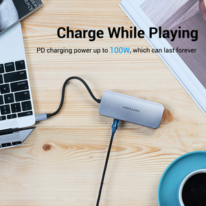 Image 5 - Chính hãng Vention Loại C HUB USB C sang USB USB 3.0 HUB Thunderbolt 3 Adapter Cho Macbook Samsung S10/9 huawei Giao Phối 30 P30 Pro USB C HUB