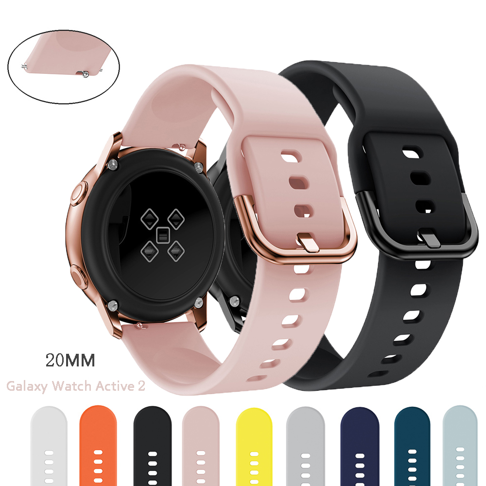 20mm Watch Strap For Samsung Galaxy Watch 46mm 42mm Active2 Active1 Gear S3 Frontier Sports Silicone Nato Strap