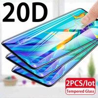 2pc 20D vidrio templado en El para Huawei Nova 5T 5z 5i Pro 6 7 SE 7i 4 4e 3 3e 3i 2s 2i 2 nova3 protector de pantalla película protectora