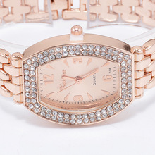 Hot Selling Fashion Women's Diamond Set Bracelet Watch Korean-style Barrel-Shaped Alloy Quartz Watch
