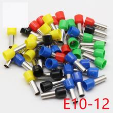 E10-12 Tube insulating Insulated terminals 10MM2 Cable Wire Connector 100PCS/Pack Insulating Crimp Terminal Connector E-