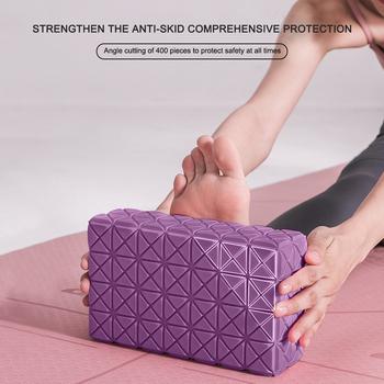 Blok do jogi ćwiczenia treningowe kobiety sprzęt do ćwiczeń pianka EVA Pilates klocek do jogi skuteczne akcesoria do ćwiczeń tanie i dobre opinie CN (pochodzenie) Yoga Block Fitness Brick 280g 220*130*70mm 8 66*5 12*2 75in Purple Pink
