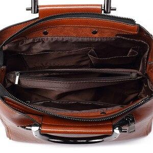 Image 5 - Vrouwen Vintage Lederen Handtassen Voor Vrouw Schoudertas Ontwerper Messenger Crossbody Tassen 2019 Dames Luxe Handtas