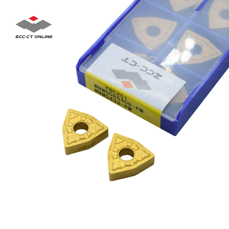 10pcs ZCC.CT CNMG120404 CNMG431 YBC251 CNC tools cutting tools inserts