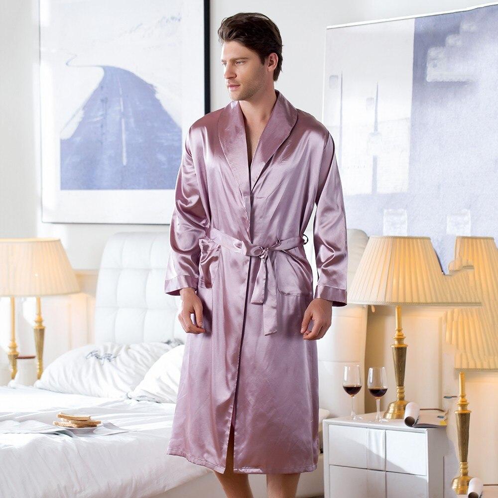 Rosa dos Homens Pijamas com Decote em v Roupão de Banho Chineses Rayon Pijamas Robe Verão Homewear Casual Kimono Yukata Tamanho m l xl Xxl Xxxl