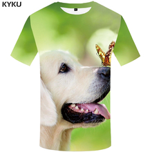 KYKU Brand Dog T shirt Men Animal Funny shirts Lovely Shirt Print Novel Anime Clothes Harajuku T-shirts 3d Short Sleeve