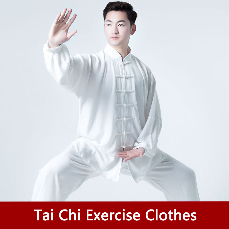 Tai Chi Uniform Cotton Unisex Traditional Chinese Clothing Wushu Clothing Taiji Exercise Clothing Sets Chinese Men Spring And Summer Wing Chun Wushu Performance Clothing