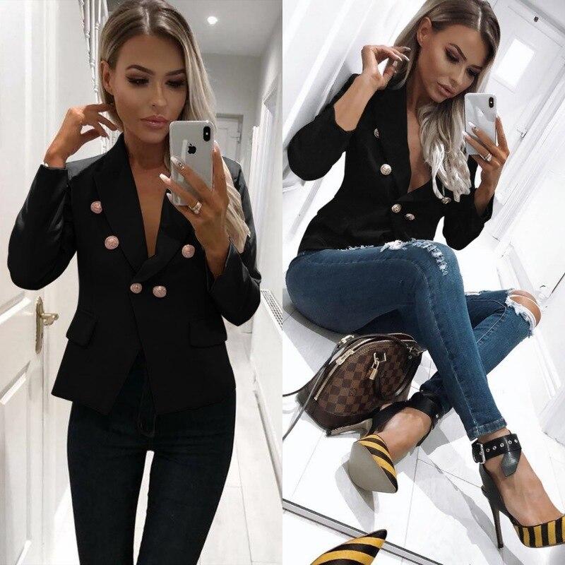 Blazer New Women 39 s Long sleeved Cardigan Shirt Long Sleeve Women Clothes Blazer Femme Bleizer Mujer 2019 Feminino Chaqueta Mujer in Blazers from Women 39 s Clothing