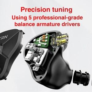 Image 4 - TRN BA5 5BA Driver Untis Metal In Ear Earphone IEM HIFI Monitor Running Sport  Headset Stage Resolution Detachable 2Pin V90/ZSX
