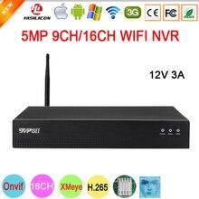 12v 3a hi3536d xmeye auido h.265 5mp 16ch 16 canais de detecção de rosto humano onvif ip wifi cctv dvr nvr vigilância gravador de vídeo