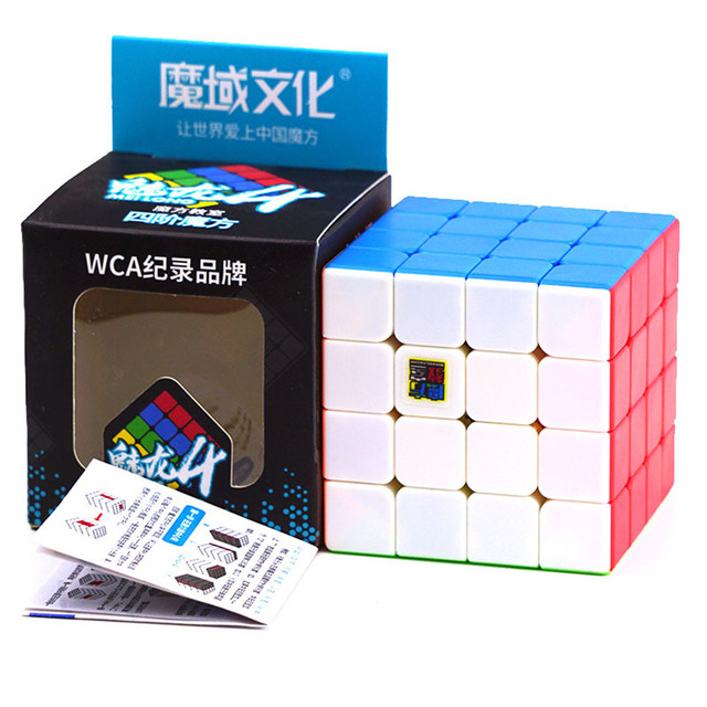 Moyu Meilong 4x4 Speed Cube Magic Puzzle Strickerless 4x4x4 Neo Cubo Magico 59mm Mini Size Frosted Surface Toys for Children 4