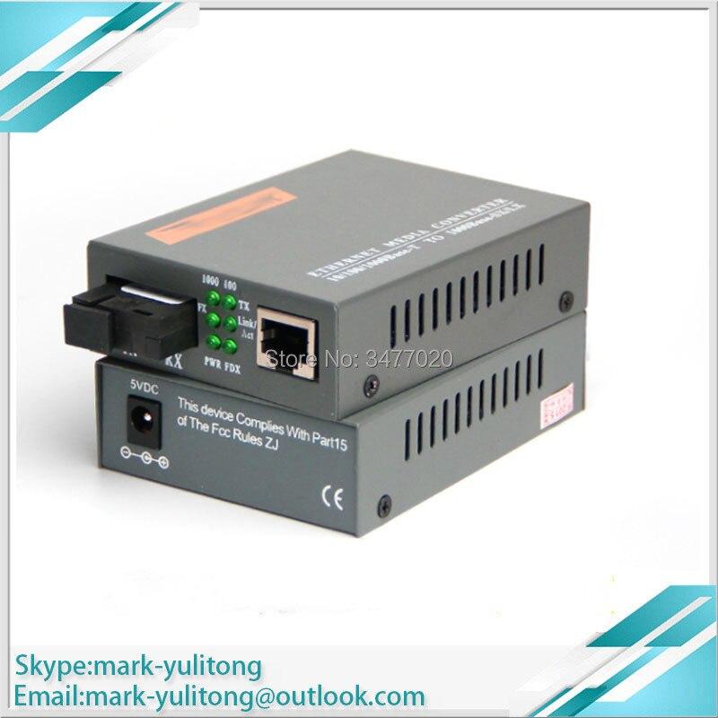 NEW HTB-GS-03-A/B Optical Fiber Media Converter Fiber Transceiver Single Fiber Converter 25km SC 10/100M Singlemode Single Fiber