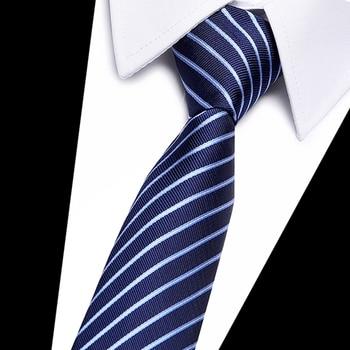 Joy alice Polyester Silk Striped & Paisley Neck Tie 7cm Skinny Neckties Wedding Business Ties for Men Gravatas Corbatas Gift