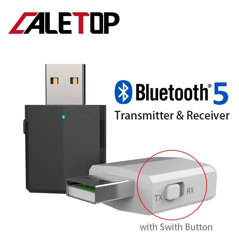 5.0 USB Bluetooth Transmitter For TV 3.5mm Mini Car Bluetooth Receiver AUX Stereo Music With Changing Switch Wireless Adapters