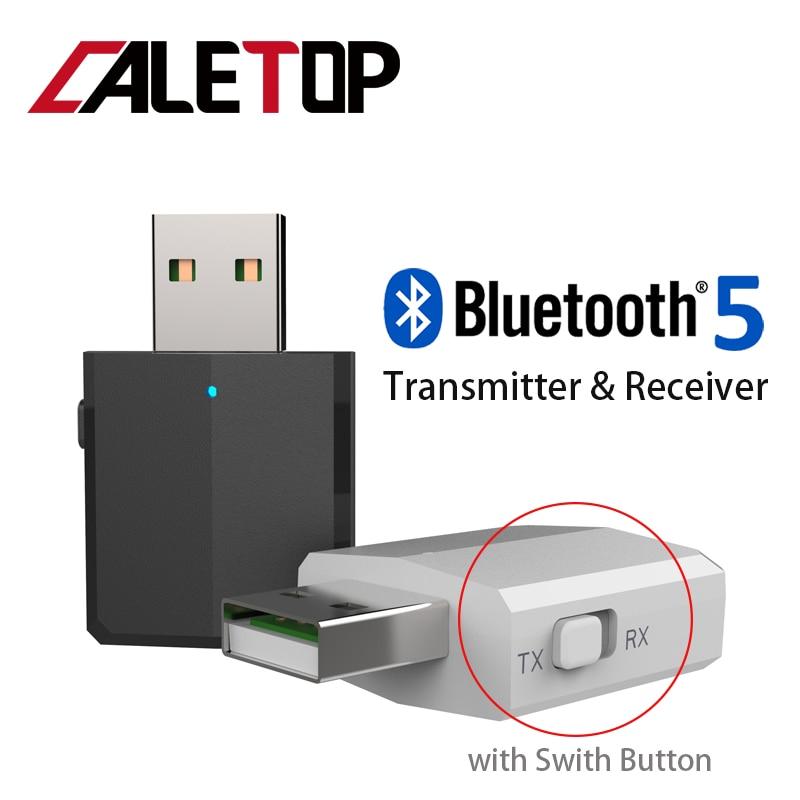 5.0 USB Bluetooth transmetteur pour TV 3.5mm Mini voiture Bluetooth récepteur AUX stéréo musique avec commutateur changeant adaptateurs sans fil