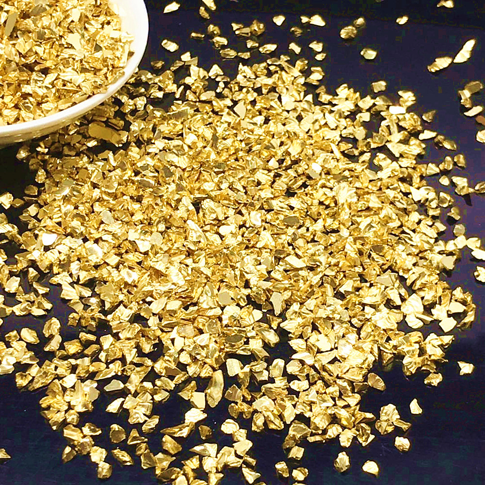 20g Fake Gold Stone Flakes Metallized Glass Beads For Resin Mold Filler Nail Art Decoration Diy Jewelry Making Mold Filling Tool