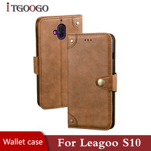 Flip case voor Leagoo S10 telefoon leather cover shockproof magnetische bumper case op Leagoo S10 S8 S8 Pro S9 cover 360 shell(China)