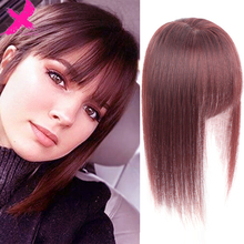 Xnaira Synthetic Hair Fringe Clip Bangs Straight Fake Hair Piece High Temperature Fiber Wig Bangs Clip on Hair Extension