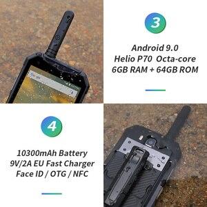 """Image 4 - هاتف Ulefone Armor 3WT مقاوم للماء IP68 هاتف ذكي 5.7 """"ثماني النواة 6GB + 64GB هيليو P70 أندرويد 9 10300mAh الإصدار العالمي للهاتف المحمول"""