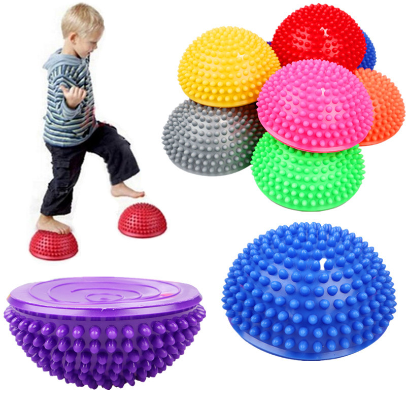 Yoga Fitness Half Ball Physique Apparatus Balancing Point Ball Children Exercise Stepping Stones Pods For Gym Pilates Sport Toy