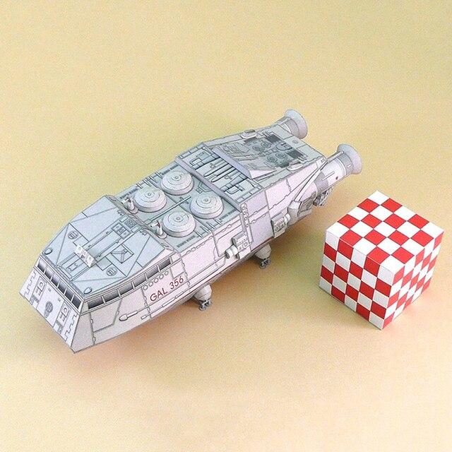 1:120 Scale Battlestar Galactica Colonial Shuttle DIY Handcraft Paper Model Kit 2