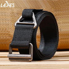 Outdoor Tactical Belt for Men Military Training Combat Rescue Rigger Duty Alloy