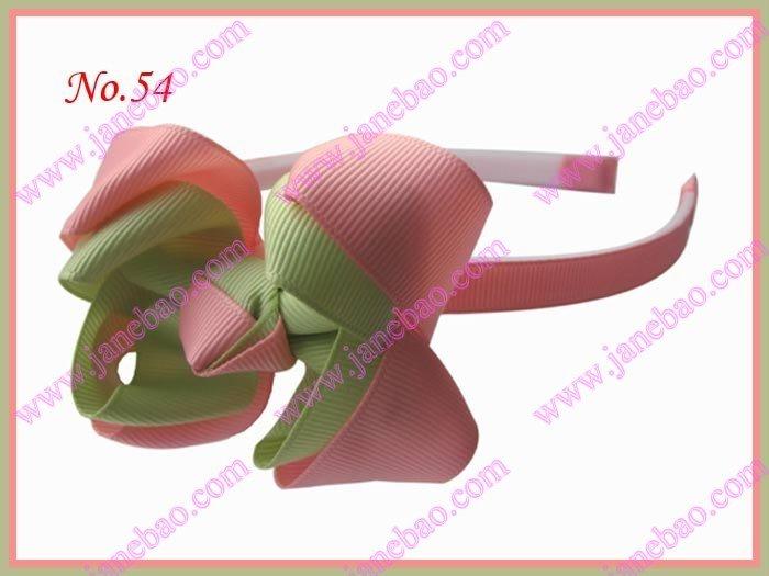 """500 шт эксклюзивная повязка на голову для девочек 3-3,"""" двухцветная двойная заколка для волос с бантом"""