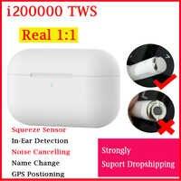Original i200000 TWS Air pro3 1:1 copie Earbus sans fil Bluetooth casque pk w1 h1 1536u puce i500 i10000 i20000 i90000 pro TWS