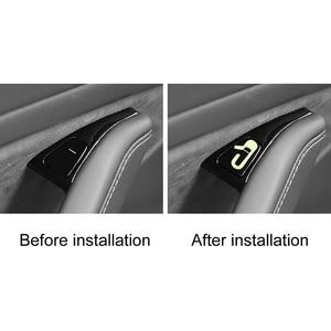 Image 4 - Inside door opening reminder sticker Dedicated for Tesla MODEL 3 inside door opening reminder sticker
